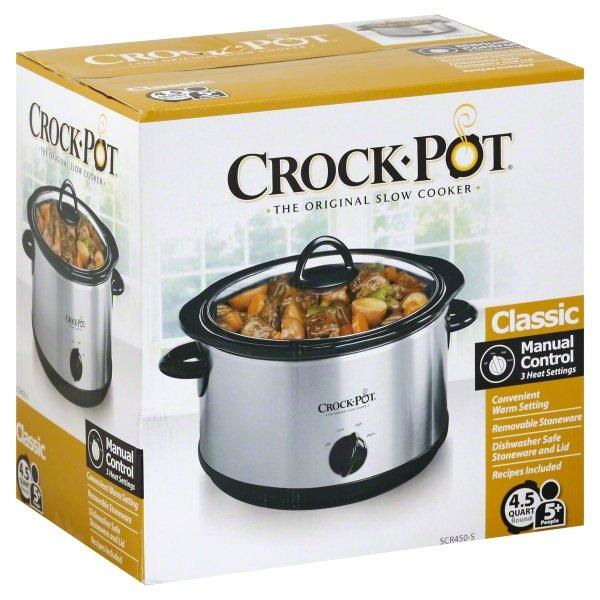 Sunbeam, Crock Pot Classic 4.5 Quart Round Slow Cooker, 1 slow cooker