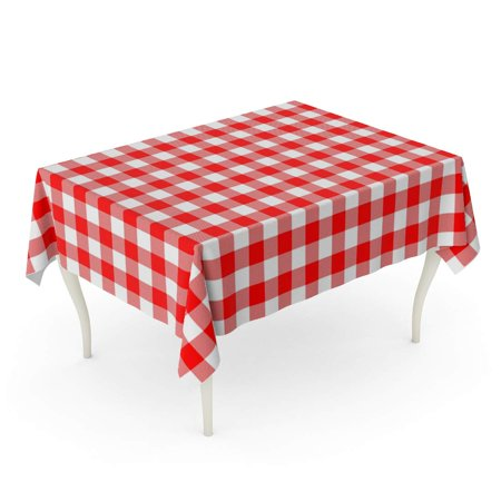 KDAGR Blue Napkin Red Gingham from Rhombus Squares for Plaid Printing Pattern Tablecloths Dre Tablecloth Table Desk Cover Home Party Decor 60x120 inch - Napkin Printing