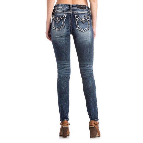 2960e2b5776d5 Miss Me - Miss Me White Stitch Hailey Skinny Jeans - Walmart.com