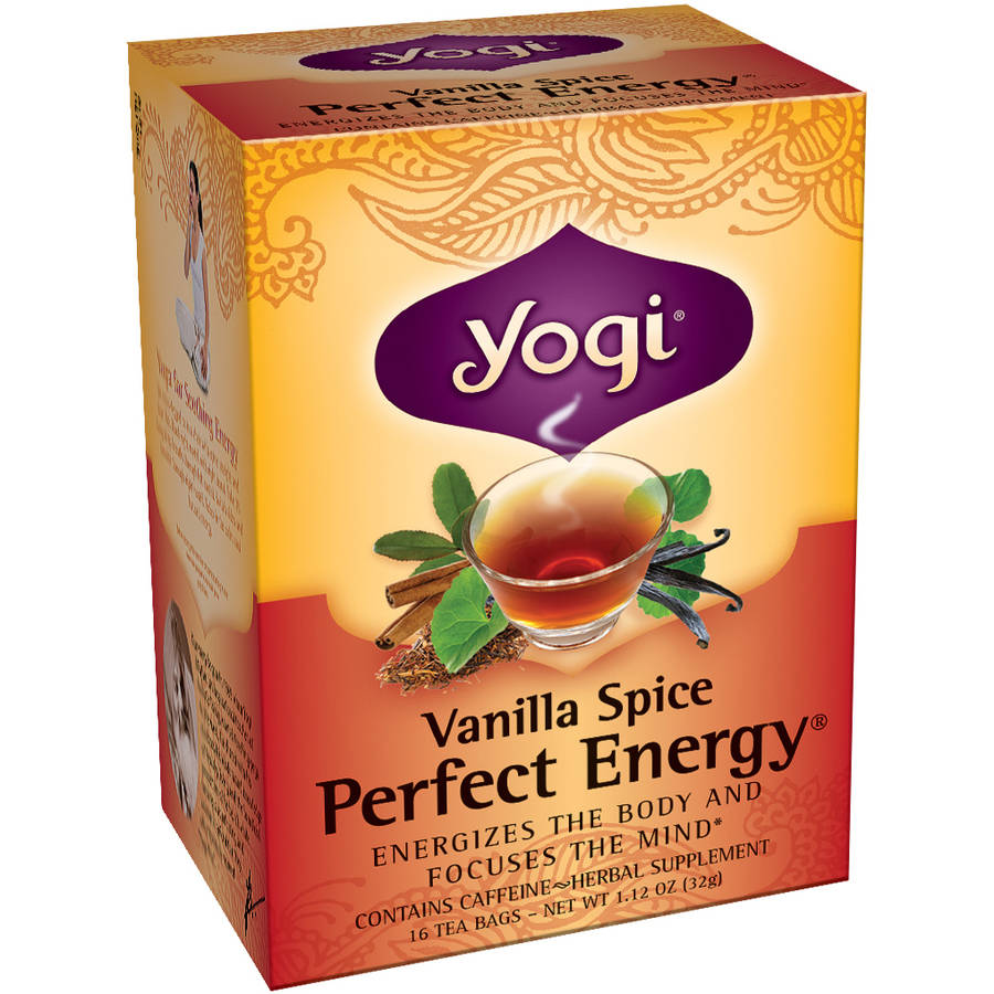Yogi Vanilla Spice Perfect Energy Tea Bags, 16 count