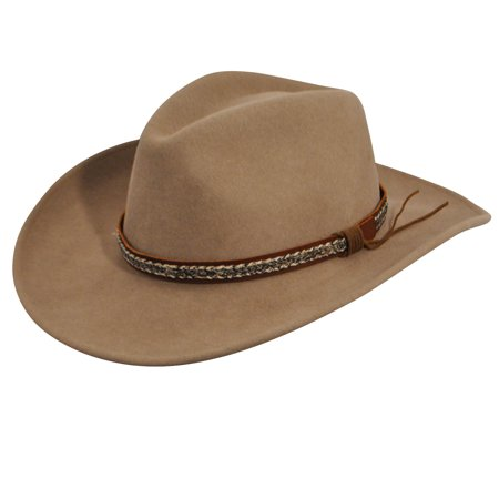 be307bdeab7 Bailey Western - Bailey Western Cowboy Hat Mens Wind River Nock Water  Repellent W14LFD - Walmart.com
