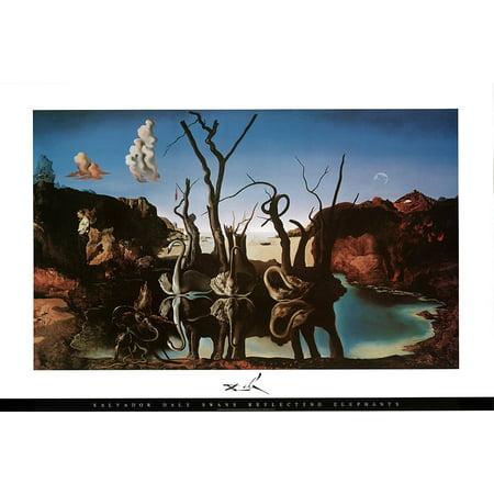 Salvador Dali - Swans Reflecting Elephants Art Print Poster -
