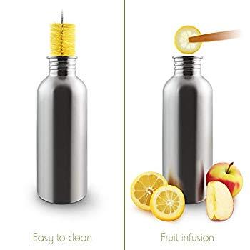 Single Wall Stainless Steel Water Bottle1 Litre Water BottleEco Friendly