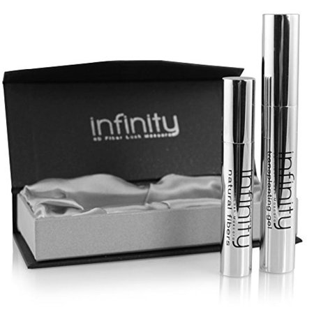 3D Fiber Mascara by Lash Factory - Infinity 3D Fiber Lashes. Waterproof & Volumizing, Simply The Best 3D Lashes, Unique Formula For Your Makeup Kit. Black, Smudge Proof, Hypoallergenic, Lasts All