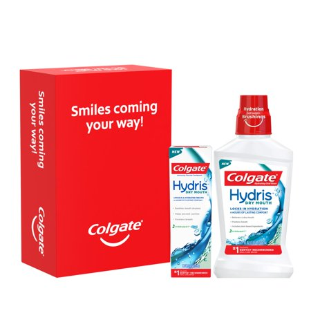 Colgate Hydris Dry Mouth Oral Rinse 500mL and Toothpaste 4.2