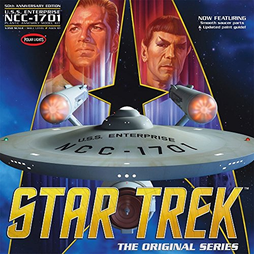 1 350 Star Trek The Original Series Enterprise NCC-1701 50th Anniversary Edition Model Kit by Polar Lights