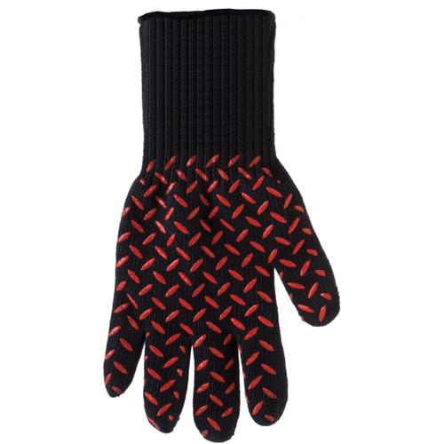 Mr. Bar-B-Q Black Leather Grilling Glove