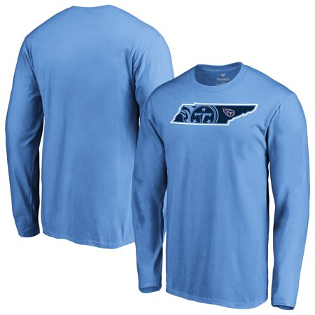 - Tennessee Titans NFL Pro Line by Fanatics Branded Iconic State Pride Long Sleeve T-Shirt - Light Blue