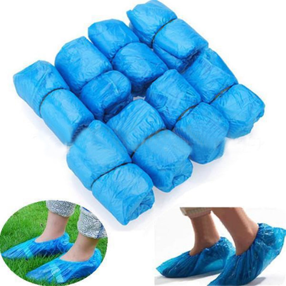 200-1000x Waterproof Shoe Covers Plastic Disposable Overshoes Protector USA SHIP