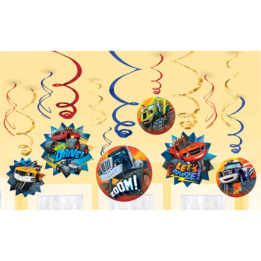 Blaze and the Monster Machines Value Pack Foil Swirl Decorations - Party Supplies