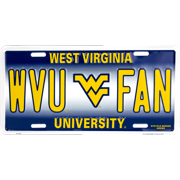 West Virginia WVU FAN novelty vanity license plate