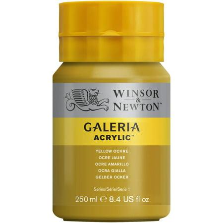 Winsor & Newton Galeria Acrylic, 250ml Squeeze Bottle, Yellow Ochre