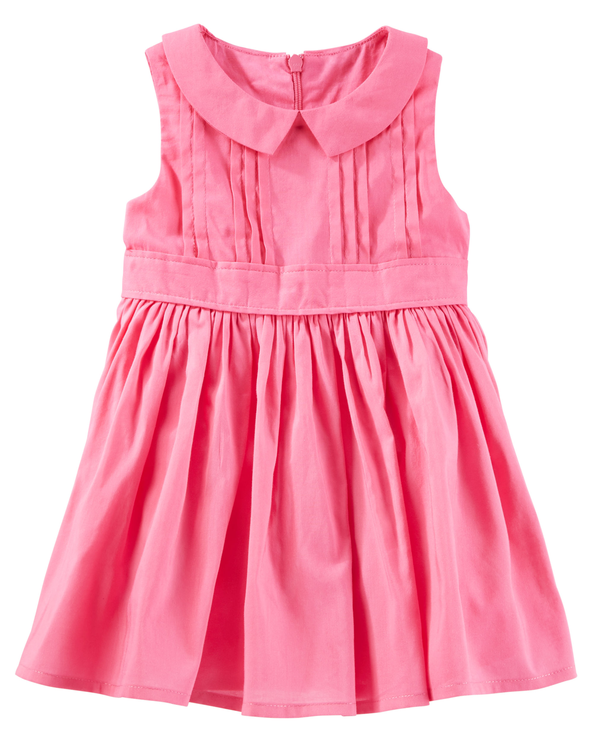 OshKosh B\'gosh Big Girls\' 2-Piece Pleated Peter Pan Collar Dress, 14 ...