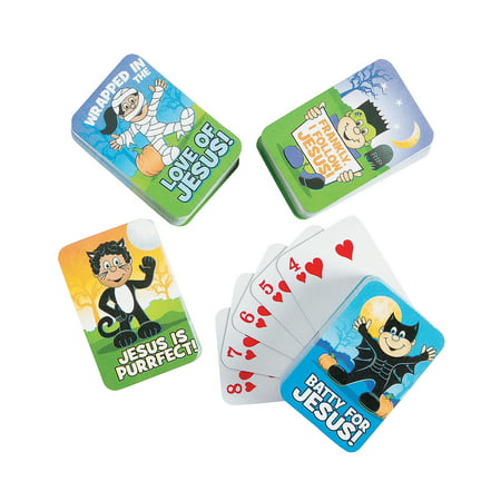Fun Express - Little Boolievers Mini Playing Cards for Halloween - Toys - Games - Card Games - Halloween - 24 - Gross Games For Halloween