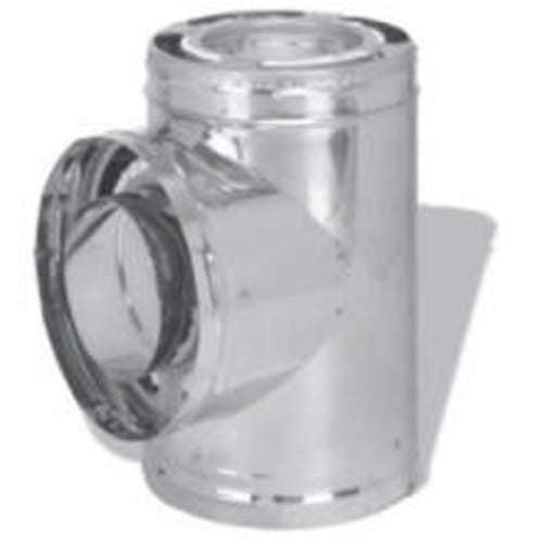 """6"""" Dura-Vent Dura/Plus Tee With Cap, Galvanized Steel"""