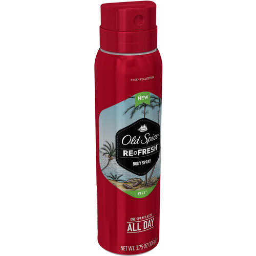 Old Spice Re-Fresh Fresher Collection Fiji Body Spray 3.75 oz. Aerosol Can