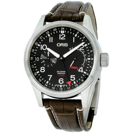 Oris Big Crown ProPilot Black Dial Leather Strap Men's Watch