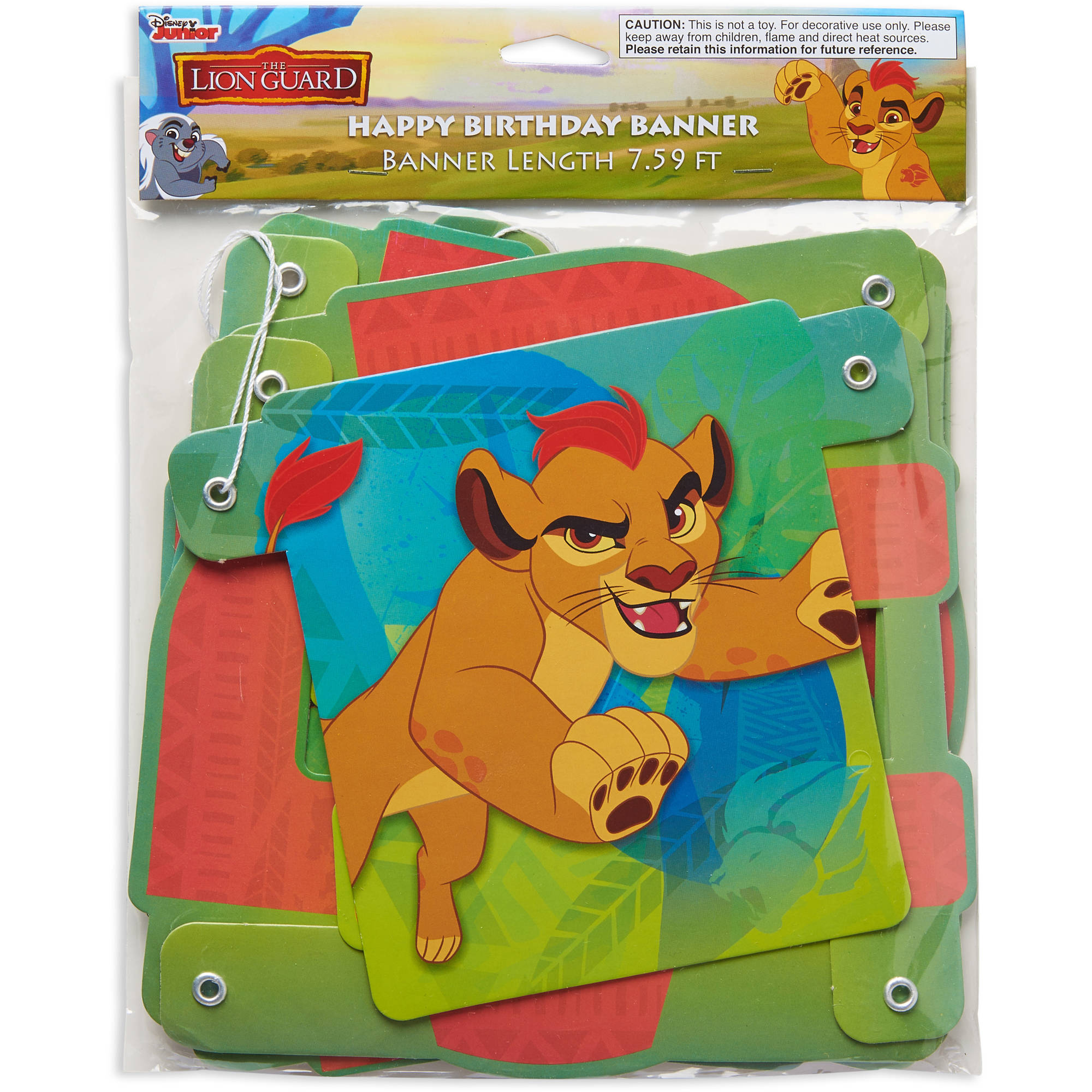 Lion Guard Birthday Party Decoration Banner, 7.59 ft. - Walmart.com