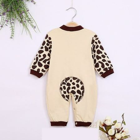 NEW Cow Newborn Girls Boys Cotton Clothes Baby Outfit Infant Romper Clothes - image 3 of 5