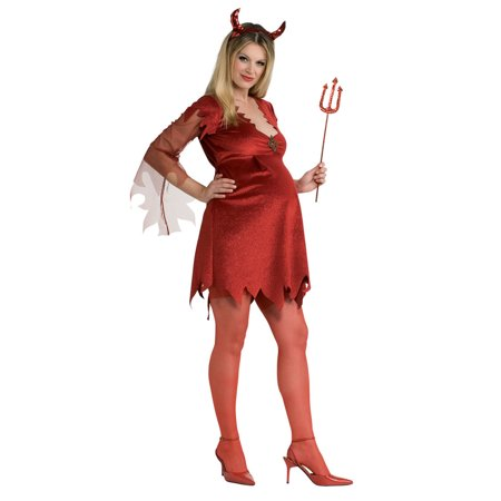Adult Maternity Devil Lady Costume Rubies 889003 (Cool Pregnancy Costumes)