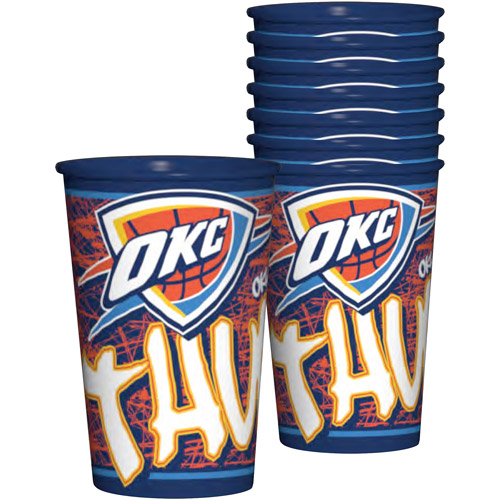 NBA 20 oz Oklahoma City Thunder Plastic Souvenir Cups, 8pk
