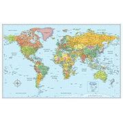 rand mcnally signature world wall map laminated
