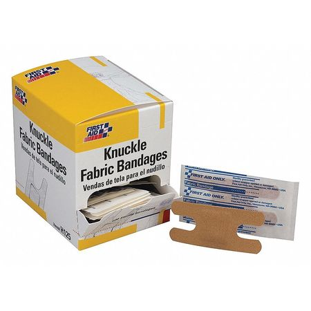 FIRST AID ONLY H125GR Knuckle Bandage,Fabric,1-1/2 inW,100/Box G1909306