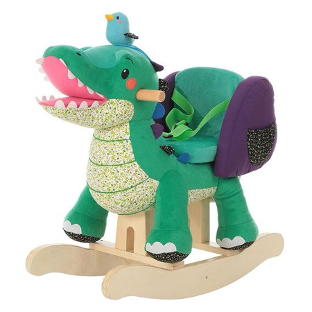 Labebe Child Rocking Horse Toy, Stuffed Animal Rocker, Green Crocodile  Plush Rocker Toy for Kid 1-3 Years, Wooden Rocking Horse Chair/Child  Rocking