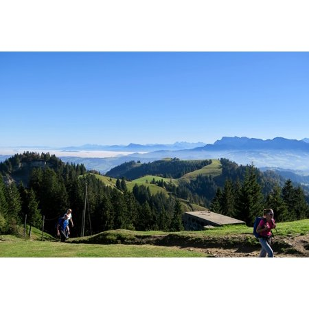 LAMINATED POSTER Sky Mountains Switzerland Nature Bowl Alpine View Poster Print 24 x