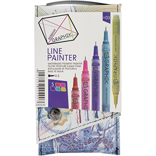 DERWENT Graphik Line Painter Set, Palette No.3, 5-Pack Multi-Colored