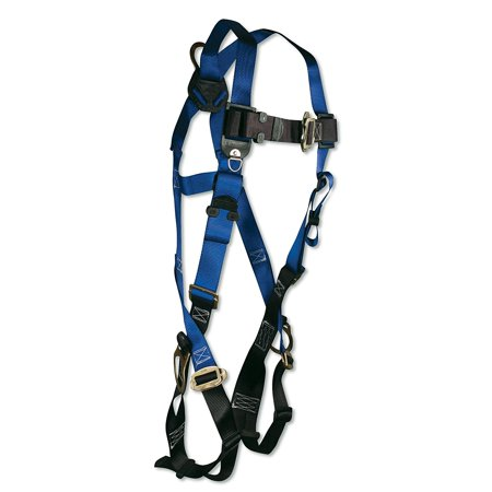 - 7017 Contractor Full Body Harness with 3 D-Rings and Mating Buckle Leg Straps, Universal Fit, 5 points of adjustment (chest, legs and torso) By FallTech