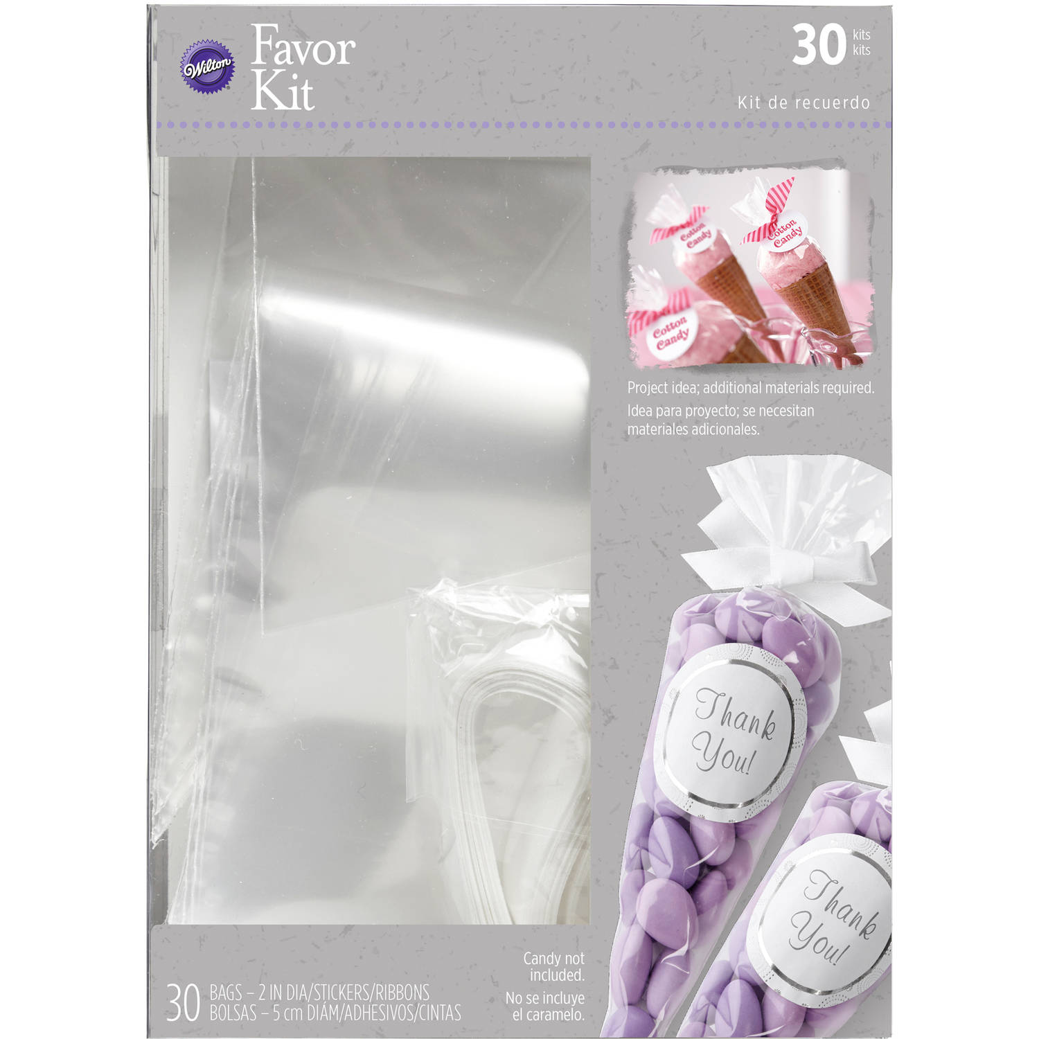 Wilton Wedding Favor Bag Kit, 30 Count - Walmart.com