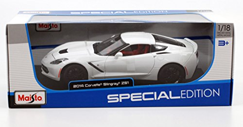 2014 Chevrolet Corvette Stingray Z51 White 1 18 by Maisto 31677 by Maisto