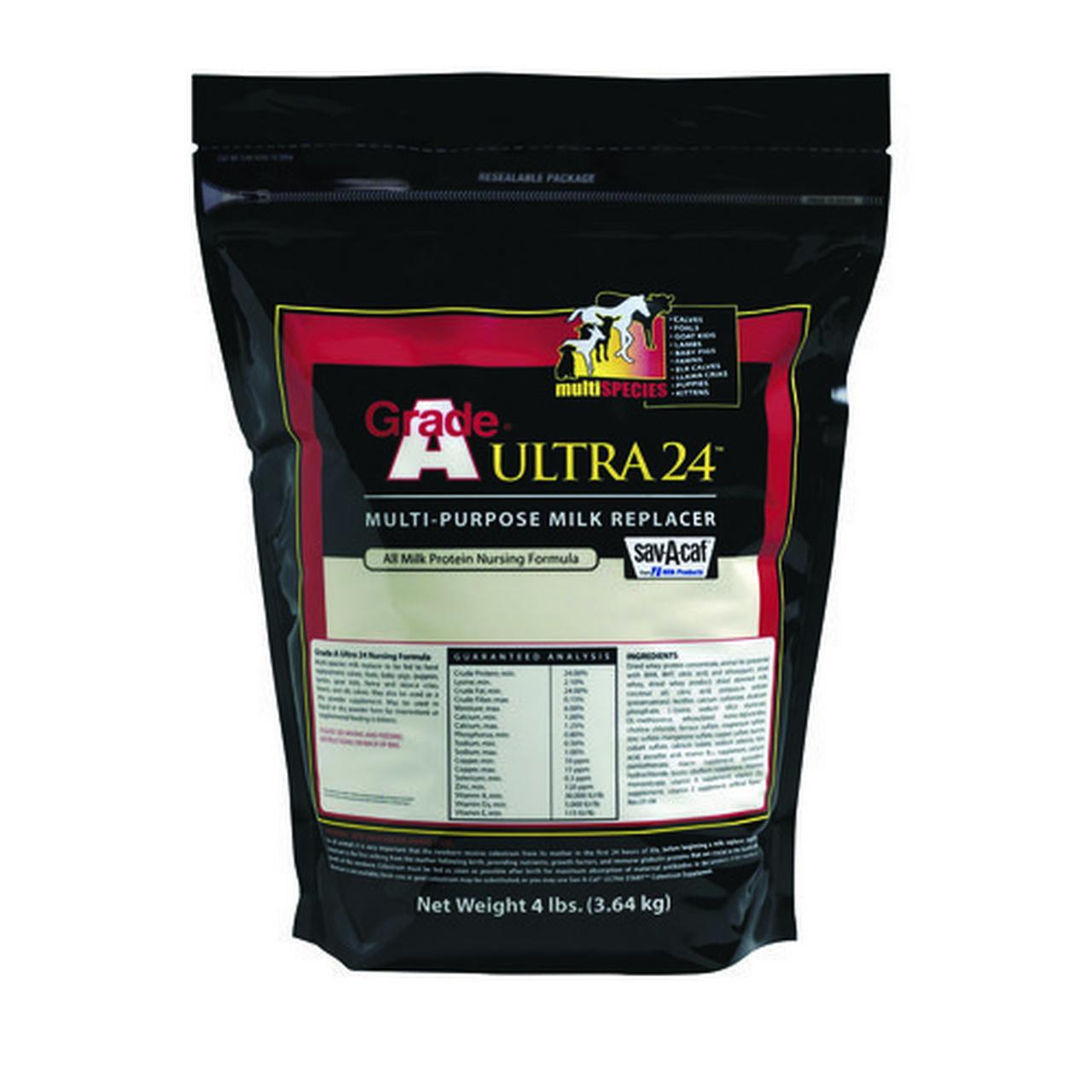 MILK PRODUCTS LLC Livestock Milk Replacer, Ultra 24, 4-Lbs.