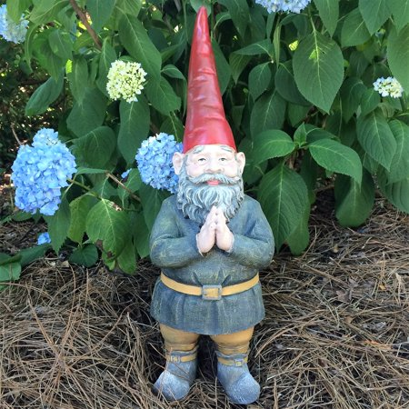 "Homestyles 20""H ""Mordecai"" the Classic Old World Garden Gnome with Praying Hands Extra Large Outdoor Statue"