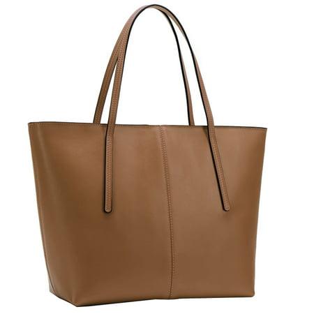 Waterproof Tote Bag, Coofit Large Capacity Faux Leather Shoulder Bag Purse Handbag for Girls Women Ladies