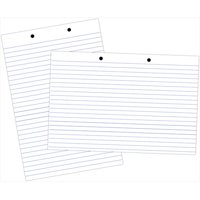 School Smart 085352 32 x 24 In. Sulphite Paper 2-Hole Punched Chart Tablet, 70 Sheets, 1.5 In. Ruling, 0.5 In. Skip Line, White