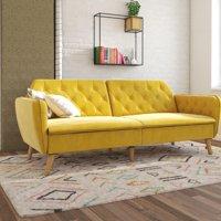 Novogratz Tallulah Sofa Bed in Velvet, Gray