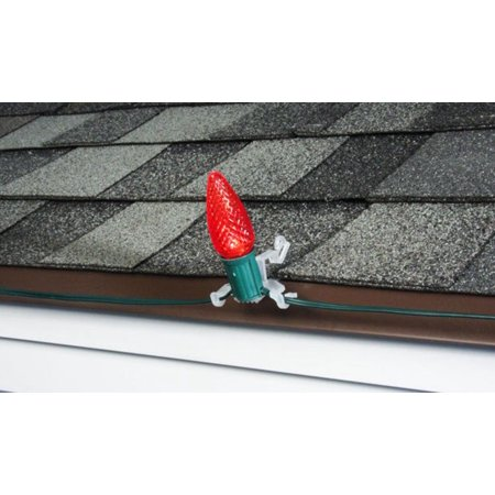 50ct commercial grade multi application outdoor gutter and shingle christmas light clips