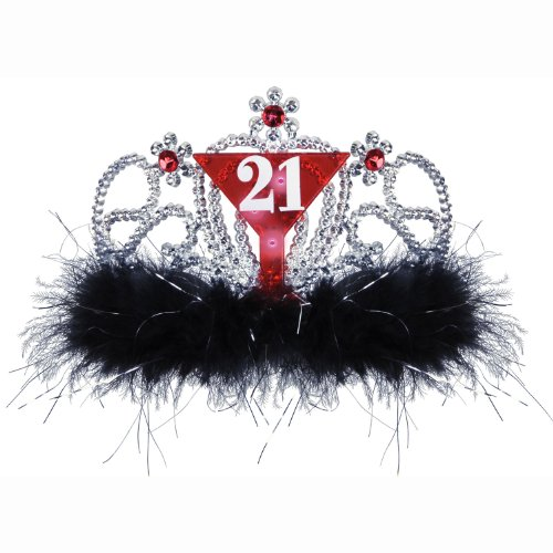 "Beistle 60176 6-Pack Plastic Light-Up ""21"" Tiaras Party Hat"