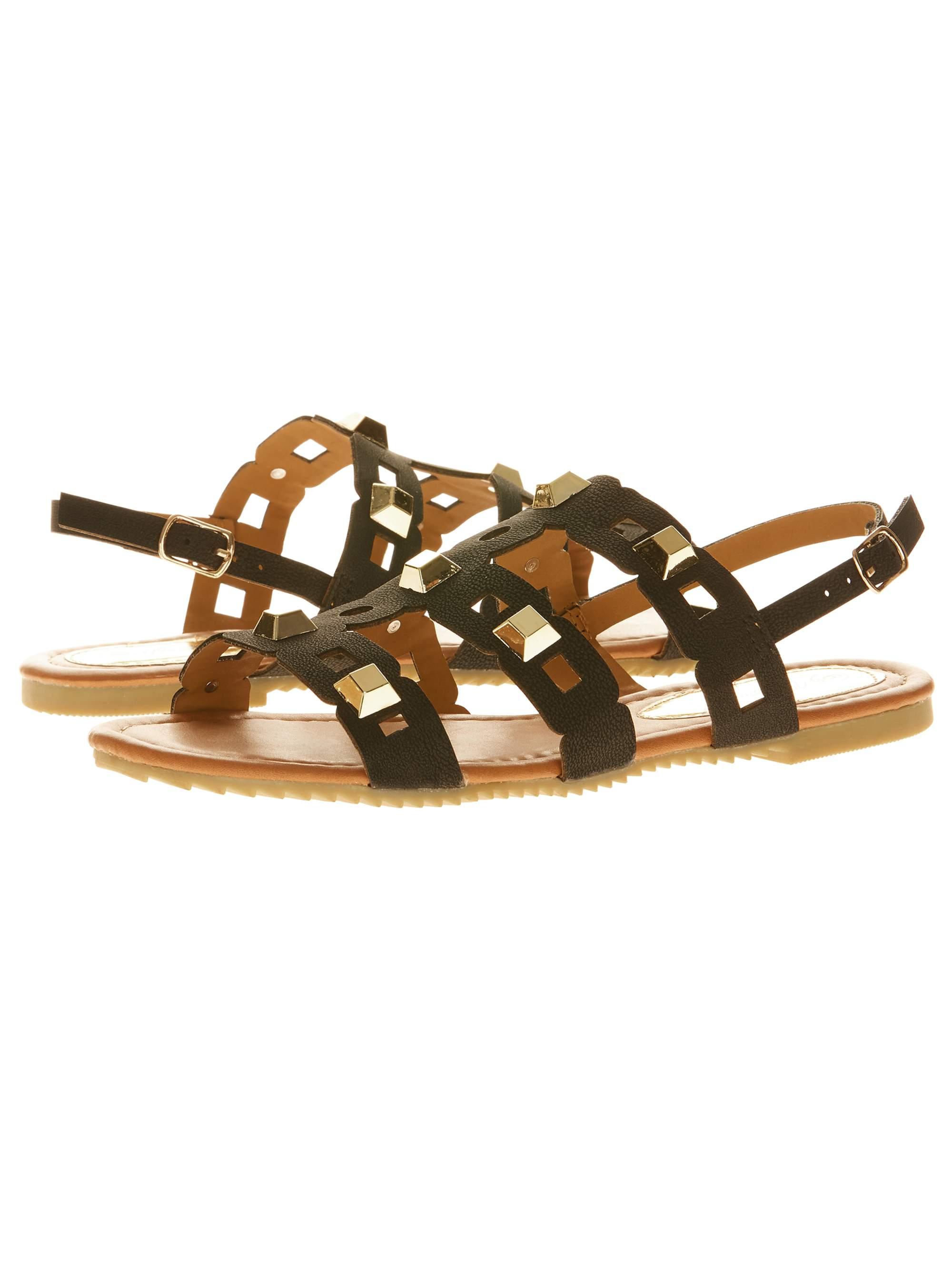 Victoria K Women's Straps and Studs Sandals
