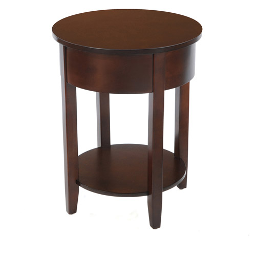Bay Shore Collection Round Side Table with Round Accent, Multiple Colors by Windward Furniture