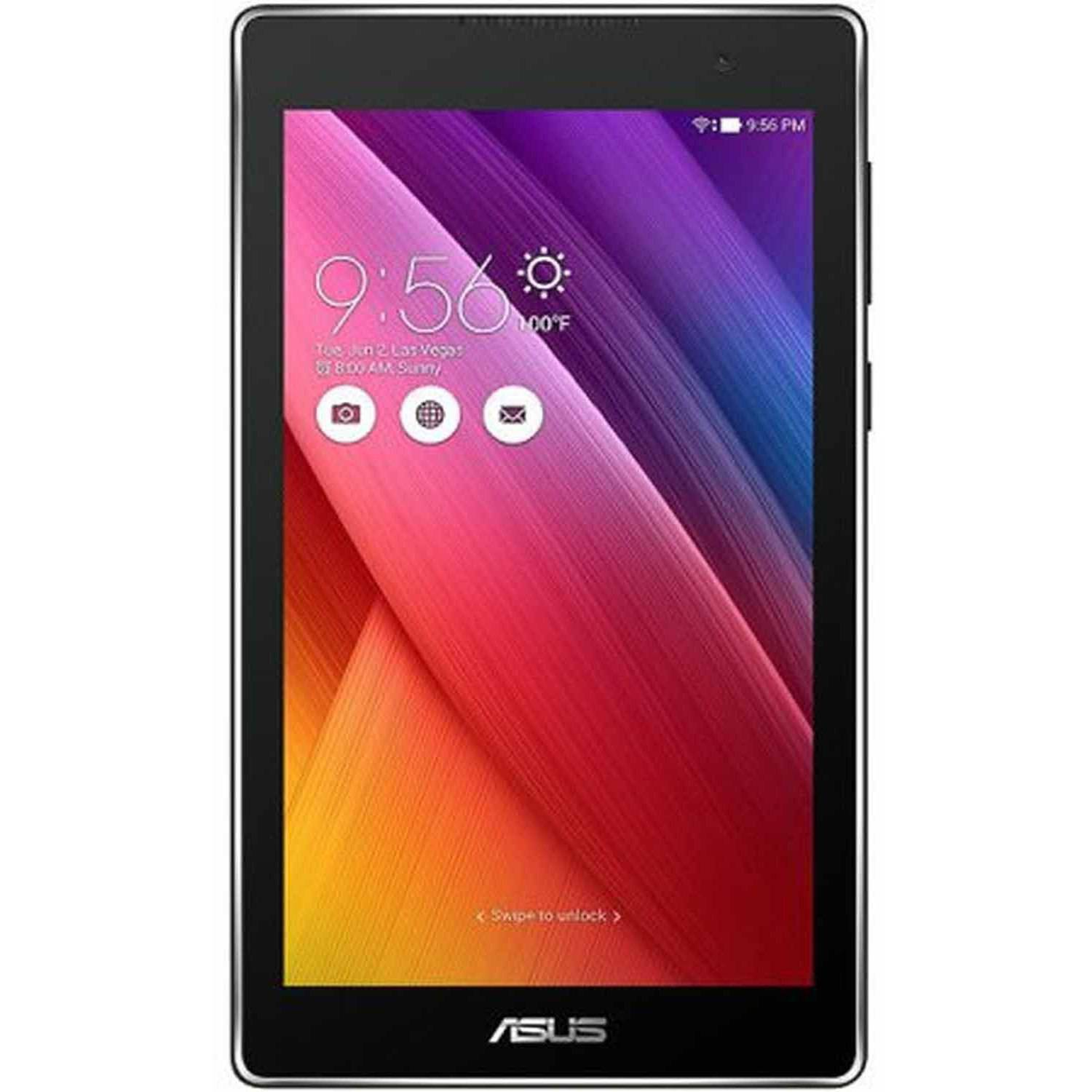 """ASUS Z170CA1BK 7"""" Tablet 16GB with WiFi Intel Atom X3-C3200rk Quad-Core Processor Featuring Android (5.1) Lollipop"""