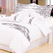 Simple Luxury Impressions Lily 3 Piece Reversible Duvet Cover Set