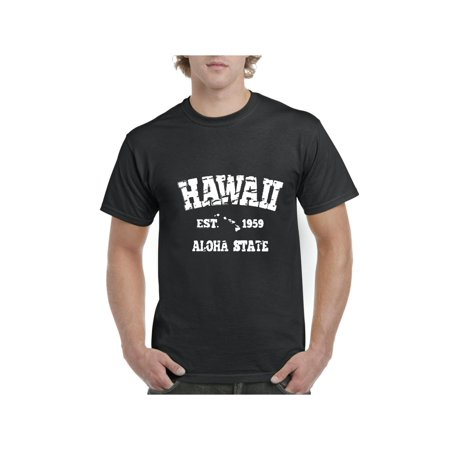Hawaii 1959 Hawaiian State Flag Men's Short Sleeve T-Shirt ()