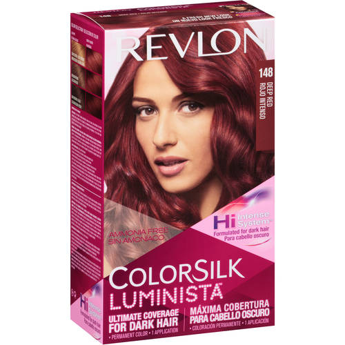 Revlon Colorsilk Luminista Haircolor 148 Deep Red Walmart Com