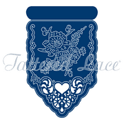 Tattered Lace Die - Card Front Queen Ann