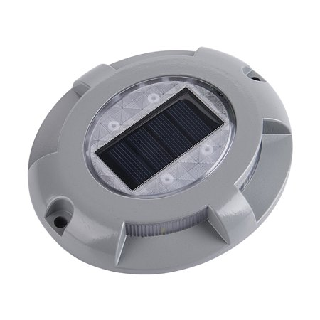 Solar Deck Lights 4-LED Driveway Light Aluminum Waterproof Outdoor Path Road Stairs Step Ground Lamp for Pathway Garden Patio Yard Decoration - image 6 de 7
