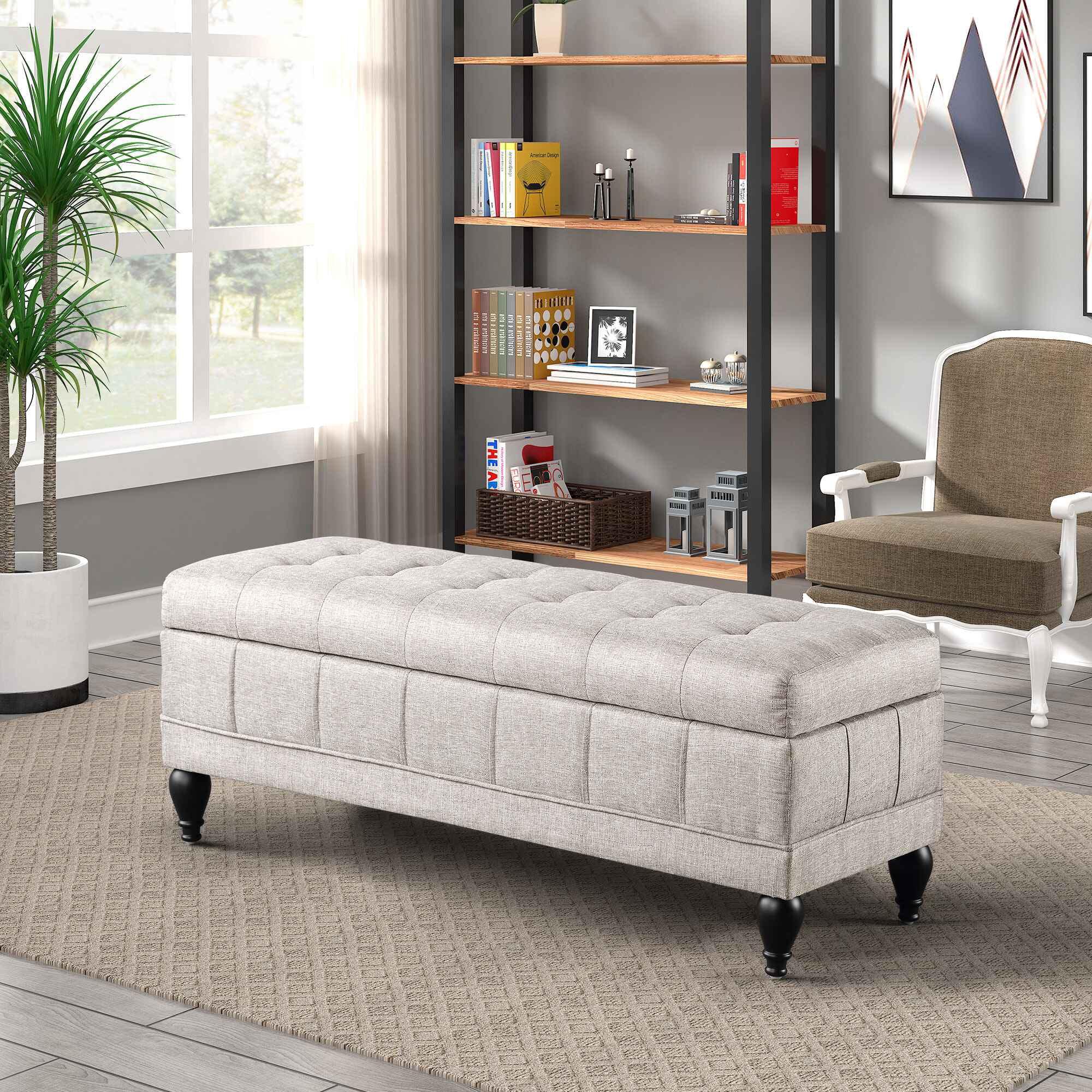 Storage Bench For Bedroom Grey Bedroom Storage Ottoman Bench Upholstered Storage Bench Seat Ottoman Bench With Storage End Of Bed Storage Bench Seat For Bedroom Entryway Bench With Storage R149 Walmart Com