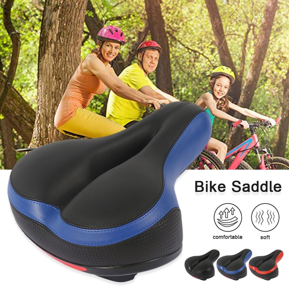 Shock-Absorbing Memory Foam Bicycle Seat Bike Saddle Retro Leather Cushion Soft and Comfortable Vintage Saddle Comfortable Bike Seat